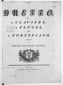 Duetto für 2 Claviere, 2 Flugel oder 2 Fortepiano...