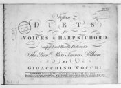 Fifteen Duets for voices and harpsichord...