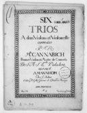 Six trios à deux violons et violoncelle... Oeuvre 3e