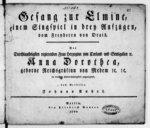 Gesang zur Elmine, einem Singspiel in drey Aufzu̇gen, vom Freyherrn von Drais [pr I v. & b.]... vom Verfasser, Johann André