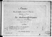 Sonates pour le violon et pour le clavecin..., gravées par H. de Baussen...