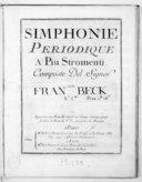 Simphonie périodique a piu stromenti... n° 17...