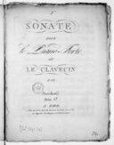 [2e] Sonate pour le piano-forte ou le clavecin...