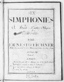 Six Simphonies à huit parties obligées... Oeuvre VIIe