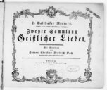 D. Balthasar Münters... Zweyte Sammlung geistlicher Lieder...