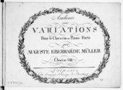 Andante avec variations pour le clavecin ou piano forte... Oeuvre VIII
