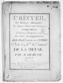 Ier Recueil de menuets, allemandes et autres morceaux variés ; entre-mêlés d'ariettes, romances, etc. avec leurs accompagnemens arrangés pour le cythre... Oeuvre Ire...