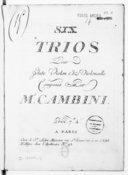 Six Trios pour flûte, violon et violoncelle...
