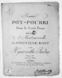 Premier Pot-pourri pour le forte piano..., gravé par Michot