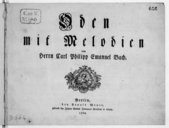 Oden mit Melodien... [pr 1v. et b.]. [Wq 199]
