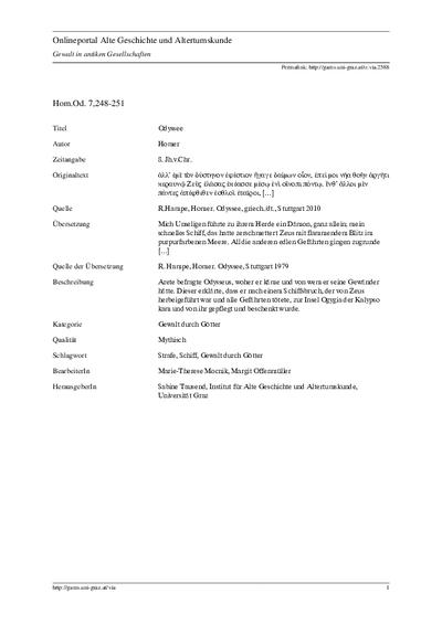 Hom.Od. 7,248-251: Odyssee