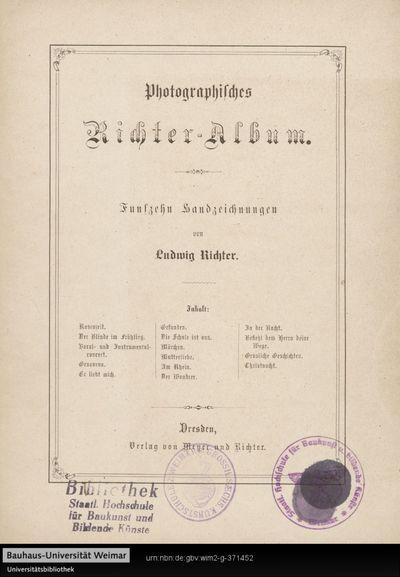 Photographisches Richter-Album: fünfzehn Handzeichnungen