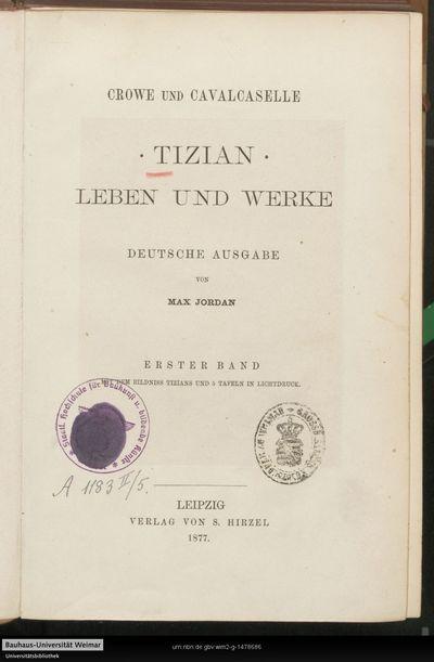 Tizian: Leben und Werke; Bd. 1