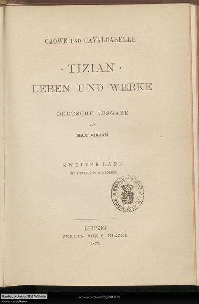 Tizian: Leben und Werke; Bd. 2