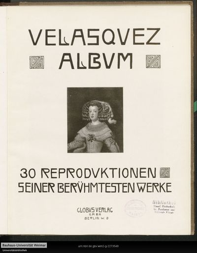 Velasquez Album: 30 Reproduktionen seiner berühmtesten Werke