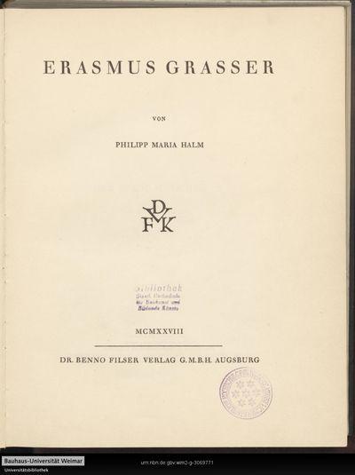 Erasmus Grasser