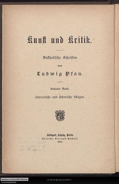 Literarische und historische Skizzen: ästhetische Schriften; Bd. 6