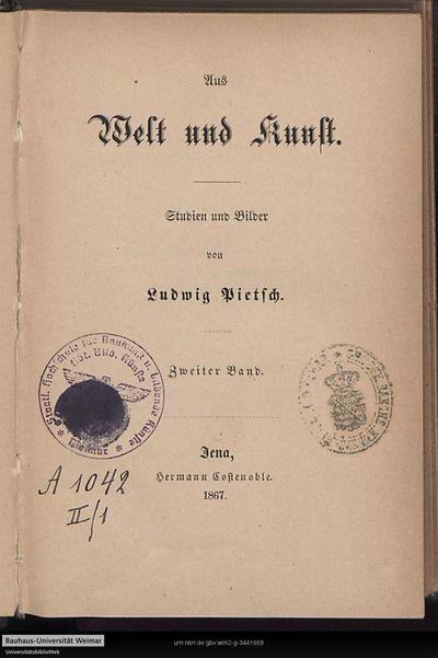 Aus Welt und Kunst: Studien und Bilder; Bd. 2