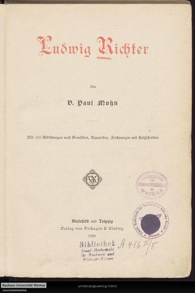 Ludwig Richter: mit 183 Abbildungen nach Gemälden, Aquarellen, Zeichnungen und Holzschnitten