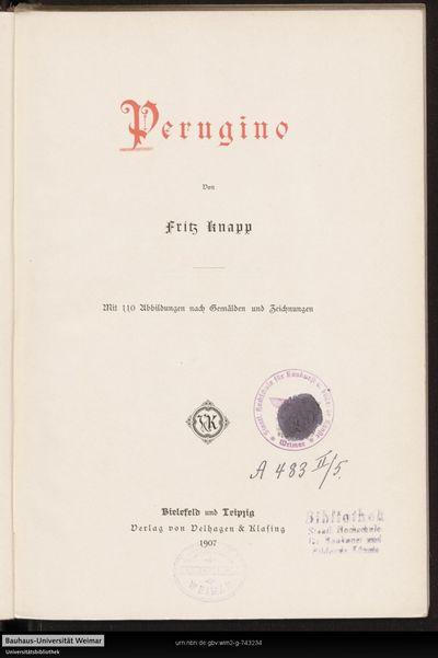 Perugino: mit 110 Abbildungen von Gemälden und Zeichnungen