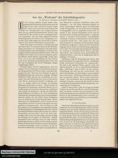 """Aus der """"Werkstatt"""" der Schriftlithographie"""