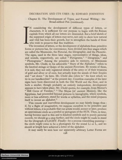 Decoration and its uses: Chapter II. - The development of types, and formal writing: the broad-nibbed pen (continued).