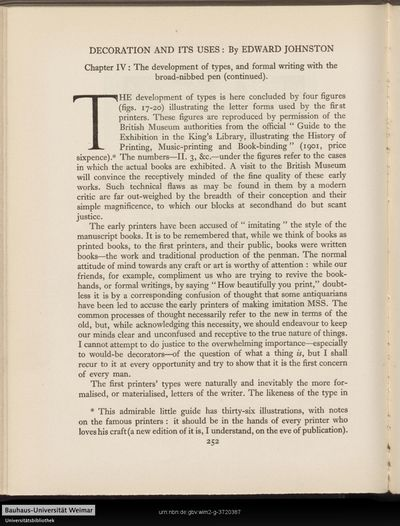 Decoration and its uses: Chapter IV. - The development of types, and formal writing with the broad-nibbed pen (continued).
