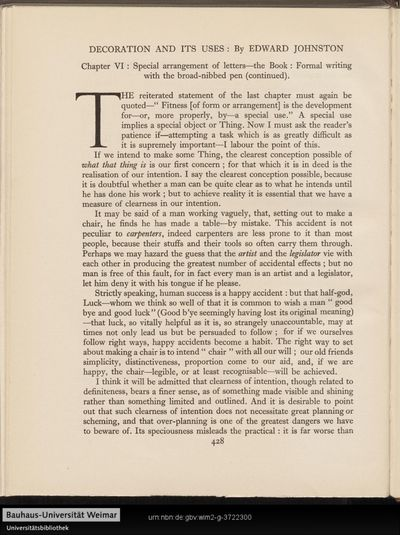 Decoration and its uses: Chapter VI. - Special arrangement of letters-the book: formal writing with the broad-nibbed pen (continued).