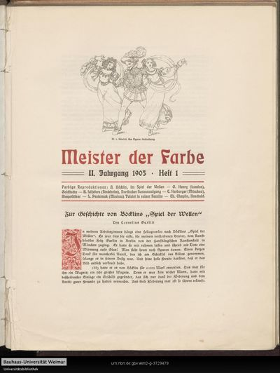"""Zur Geschichte von Böcklins """"Spiel der Wellen"""""""