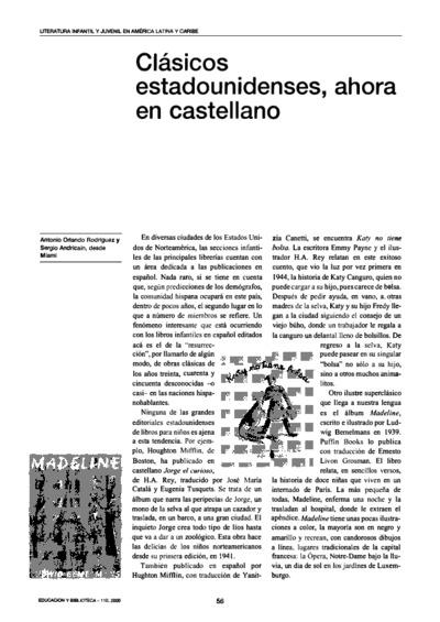 Clásicos estadounidenses, ahora en castellano