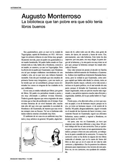 Augusto Monterroso: la biblioteca que tan pobre era que sólo tenía libros buenos