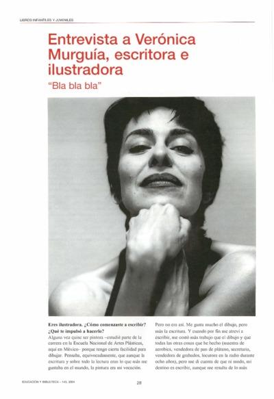 Entrevista a Verónica Murguía, escritora e ilustradora