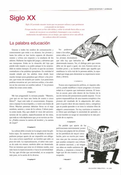 Siglo XX: la palabra educación
