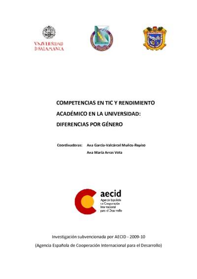 Competencias en TIC y rendimiento académico en la universidad: diferencias por género; ICT skills and academic performance at university: gender differences