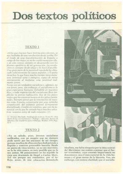 Dos textos políticos de Antonio Machado