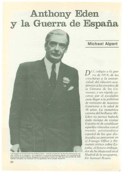 Anthony Eden y la Guerra de España