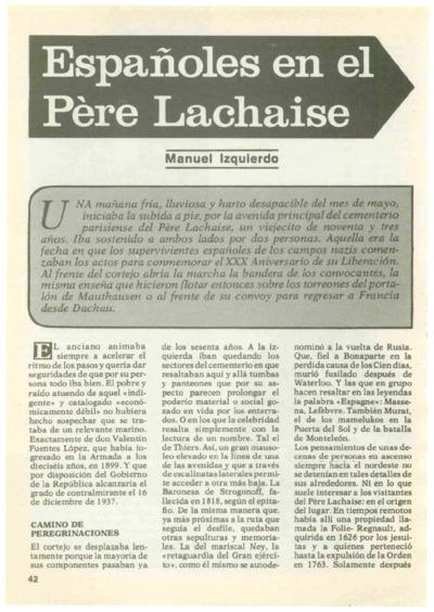 Españoles en el Père Lachaise