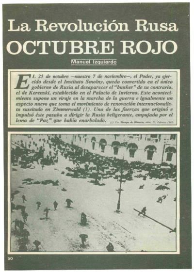 La Revolución Rusa desde España