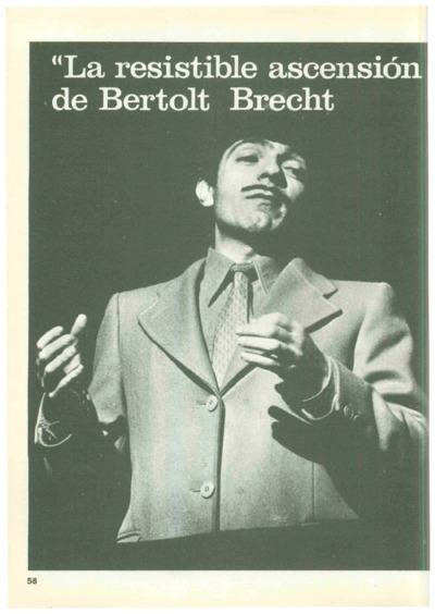"""La resistible ascensión de Arturo Ui"",de Bertolt Brecht"