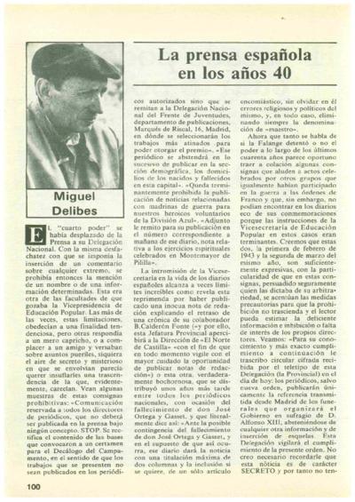 """La prensa española en los años 40: El escaso poder del """"cuarto poder"""""""