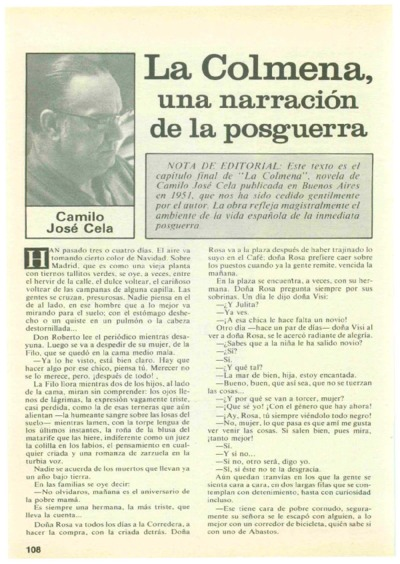 Image from object titled La Colmena, una narración de la posguerra