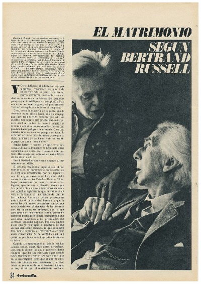 El matrimonio según Bertrand Russell