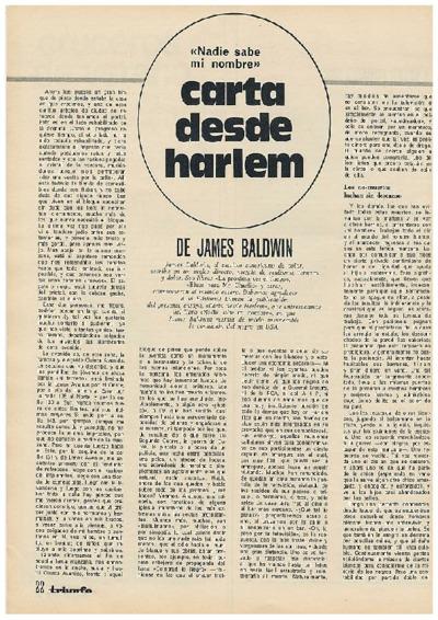 Carta desde Harlem