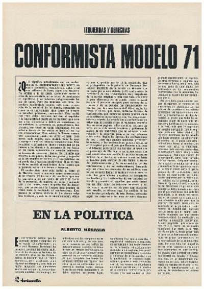 Conformista modelo 71: en la política