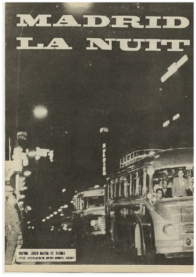 Madrid, la nuit