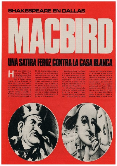 MacBird, una sátira feroz contra la Casa Blanca