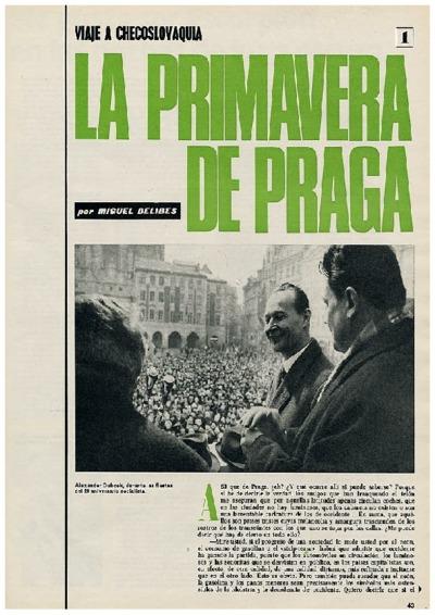 Viaje a Checoslovaquia I: La primavera de Praga
