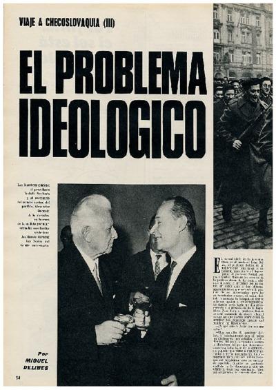 Viaje a Checoslovaquia III: El problema ideológico