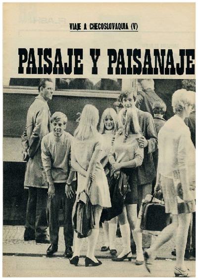 Viaje a Checoslovaquia V: Paisaje y paisanaje