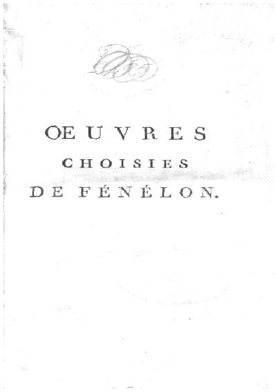 Oeuvres choisies de Fénélon